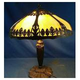 Solid Metal mid century lamp - Tiffany style