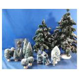 Heritage Village Christmas trees - assorted