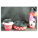 New Tupperware - Minnie Mouse Lunch set includes