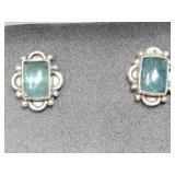135U- sterling silver gemstone earrings $190