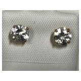 147U-10k ylw gold white zircon 1.4ct earrings $400