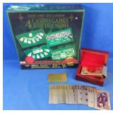 New in box 4 casino games and gold foil playing