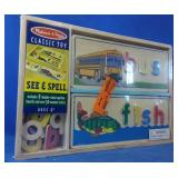 New Melissa & Doug classic toy see and spell