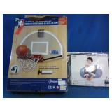 "NBA 18"" over the door basketball set, like new"