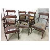 8 Antique chairs from Crane House in Sackville