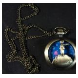 New blue winter pocket watch