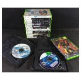 Assorted Xbox 360 games with Xbox Halo 2 game