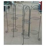 "Two metal plant stands  35"" h"