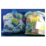 2 bags of assorted large Lego
