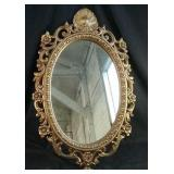 "Framed Oval wall mirror  19"" x 29"""