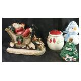 "Heavy Christmas statue 14"" x 10"", ceramic cookie"