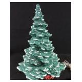 Ceramic Christmas tree with light up base and bag