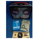 Alice Cooper lunch box with signed Alice Cooper