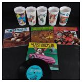 1980s gremlins book set of 4 and movie cups
