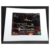 WWE Chris Benoit signed WrestleMania photo