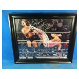 WWE Rowdy Roddy Piper signed framed picture with