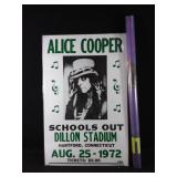 Alice Cooper concert advertisement with 1990 tour