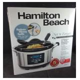 Like new Hamilton Beach 6 quart slow cooker