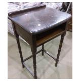 Antique Accent table / telephone table 18X14X30