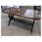"Coffee table with glass top 36x18x17""h"