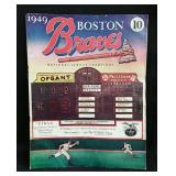Original 1949 Boston Braves program