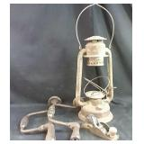 Beacon Lantern frame and vintage tools