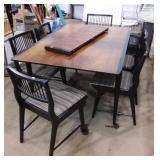 Knechtel Dining Table with Leaf and 6 chairs