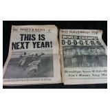 2 New York papers from Oct 5, 1955 celebrating