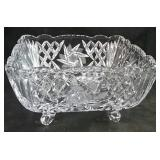 "Pinwheel Crystal square footed dish  8"" x 8"" x"