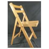 Folding hardwood chair