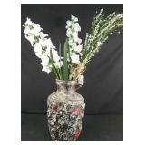 "20"" h vase , made in West Germany with faux"