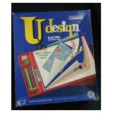 Vintage U  design electric drawing desk