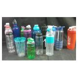water bottles and blender bottles