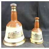2 Collectible whiskey bottles