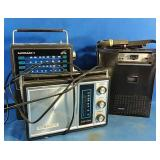 2 Vintage Radios and a Cassette player with