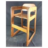 Wooden decorative high chair #1
