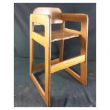 Wooden decorative high chair #2