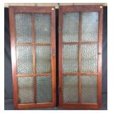 Two wooden cupboard doors #1 -20x1x48