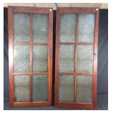 Two wooden cupboard doors #2 -20x1x48