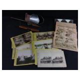 antique stereoscope & slides