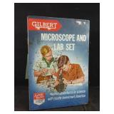Vintage Gilbert microscope and lab set