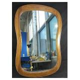 "Wood frame wall mirror  26"" x 38"""
