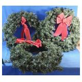 Three wreathS and hanger
