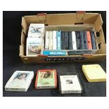 Assortment of 8-track tapes