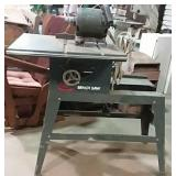 Incomplete table saw, sold as is
