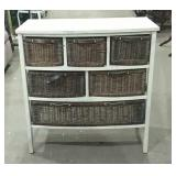 "Wicker basket cabinet  32"" x 17"" x 33"""