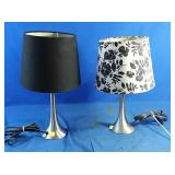 Two working table lamps