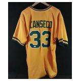 Jose Canseco signed Athletics Juiced Jersey -