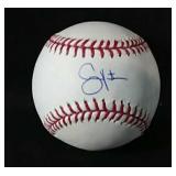 Shane Victorino signed OML Baseball with JSA  COA