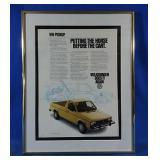 Authentic 1981 Volkwagen Pickup Advertisement